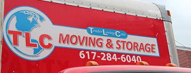 TLC Moving & Storage truck logo